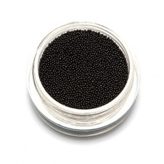 TNL, Бульонки супермелкие, черные, 0,4 мм TNL Professional