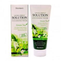 "пенка для умывания ""зеленый чай"" deoproce natural solution cleansing foam greentea"