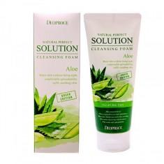 пенка для умывания алое deoproce natural solution cleansing foam green aloe