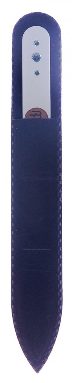 BHM PROFESSIONAL Пилочка стеклянная цветная с 3 кристаллами 135 мм BOHEMIA PROFESSIONAL