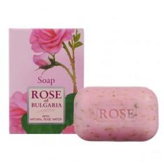 Rose of Bulgaria мыло натуральное косметическое 100г с частичками лепестков роз Rose of Bugaria