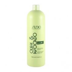 Увлажняющий бальзам с маслами авокадо и оливы для волос, 1000 мл (Studio Professional) Kapous Professional