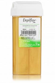 DEPILFLAX 100 Воск для депиляции в картридже, золотой 110 г