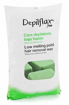 DEPILFLAX 100 Воск горячий в брикетах, зеленый 1000 г