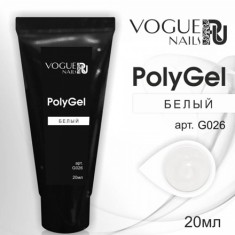 Vogue Nails, PolyGel, белый, 20 мл