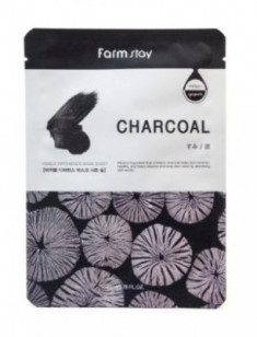 Маска с углем FARMSTAY Charcoal visible difference mask sheet 23мл