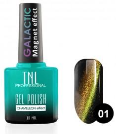 TNL PROFESSIONAL 01 гель-лак для ногтей Кошачий глаз, Звездная пыль / Galactic 10 мл