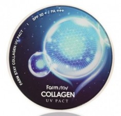 Пудра компактная с коллагеном FARMSTAY Collagen UV pact SPF 50/PA+++ №13 Светлый Беж 12г*2