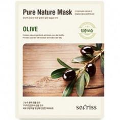 Маска тканевая с оливой Anskin Secriss Pure Nature Mask Pack-Olive 25мл