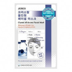 Маска тканевая c коллагеном Mijin Junico Crystal All-in-one Facial Mask Collagen 25гр