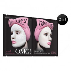 Маска двухкомпонентная для глубокого очищения и питания кожи лица Double Dare OMG! Detox Bubbling Microfiber Mask 5шт