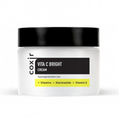 крем выравнивающий тон кожи с витамином с coxir vita c bright cream