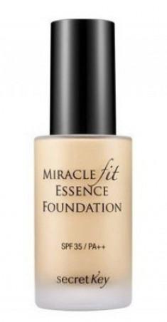 Тональная основа жидкая SECRET KEY Miracle Fit Essence Foundation 21 Light Beige 30мл