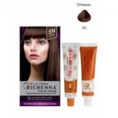 Richenna Color Cream 5 n - Крем-краска для волос с хной, каштановый