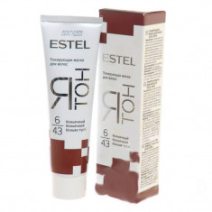 Estel ятон тонирующая маска для волос тон 6/43 коньячный 60мл