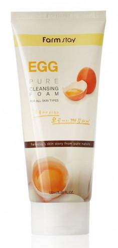 FARMSTAY Пенка очищающая с яичным экстрактом / PURE CLEANSING FOAM 180 мл