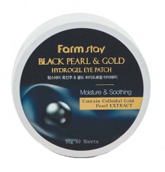 FARMSTAY Патчи гидрогелевые с золотом и черным жемчугом для области вокруг глаз / HYDROGEL EYE PATCH 60 шт
