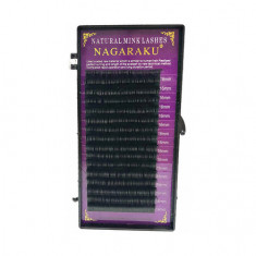 NAGARAKU, Ресницы на ленте Natural Mink, 16/0,07 мм, D-изгиб