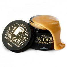 Маска для лица с 24 каратным золотом ESTHETIC HOUSE PIOLANG 24k GOLD WRAPPING MASK 80 мл