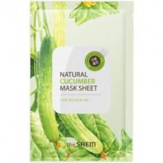 Маска тканевая с экстрактом огурца The Saem Natural Cucumber Mask Sheet 21мл