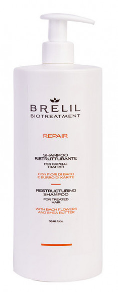 BRELIL PROFESSIONAL Шампунь восстанавливающий для волос / BIOTREATMENT Repair 1000 мл