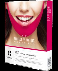 Маска лифтинговая розовая AVAJAR perfect V lifting premium mask 5 шт