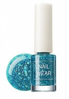 Лак для ногтей The Saem Nail Wear 42. aqua gem 7мл