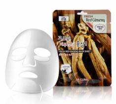 Тканевая маска для лица КРАСНЫЙ ЖЕНЬШЕНЬ 3W CLINIC Fresh Red Ginseng Mask Sheet 10 шт