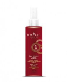 BRELIL PROFESSIONAL Масло защитное для волос и тела SPF 6 / SOLAIRE 150 мл
