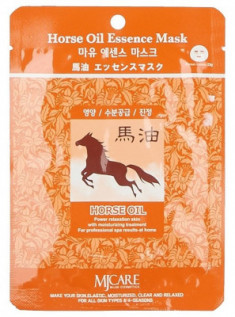 Маска для лица тканевая Конский жир Mijin Horse Oil Essence Mask 23г
