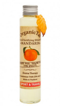Шампунь безсульфатный с мандариновым маслом ORGANIC TAI Natural Fortifying Shampoo Mandarin 100 мл