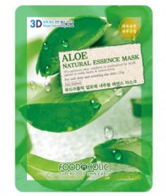 Тканевая 3D маска с экстрактом алоэ FoodaHolic Aloe Natural Essence Mask 23мл
