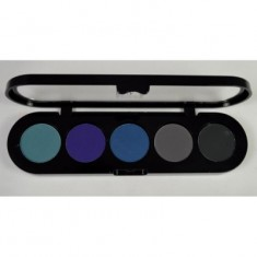 Палетка сухой подводки для век, 5 цветов Make-Up Atelier Paris TE20 10г