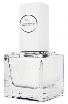 E.MI 001 лак ультрастойкий для ногтей, Снежно-белый / Gel Effect 9 мл