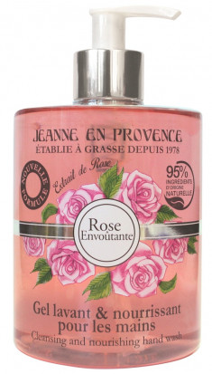 JEANNE EN PROVENCE Гель очищающий для рук Пленительная роза 500 мл
