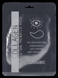 L.SANIC Патчи гидрогелевые с коллагеном и муцином черной улитки для области вокруг глаз 2 шт