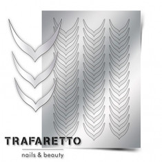Trafaretto, Металлизированные наклейки CL-04, серебро