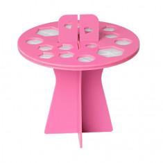 IRISK, Подставка-органайзер для сушки кистей, 16 ячеек, розовая