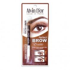 Alvin D`or, Двойной карандаш Perfect Brow, тон 01 Alvin D'or