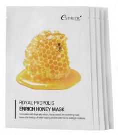 Набор Тканевых масок для лица МЕД/ПРОПОЛИС ESTHETIC HOUSE Royal Propolis Enrich Honey Mask 25 мл*5шт