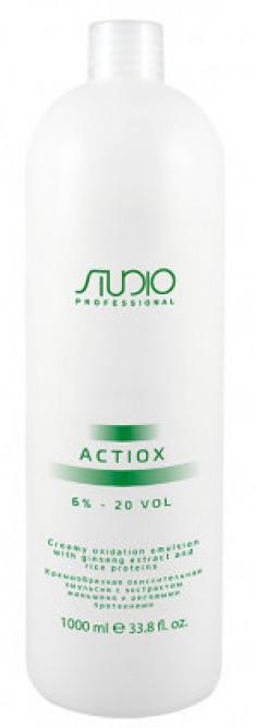 STUDIO PROFESSIONAL Эмульсия окислительная кремообразная с экстрактом женьшеня и рисовыми протеинами 6% / ActiOx 1000 мл