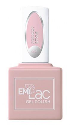 E.MI 002 гель-лак для ногтей, Французский шик / E.MiLac 6 мл