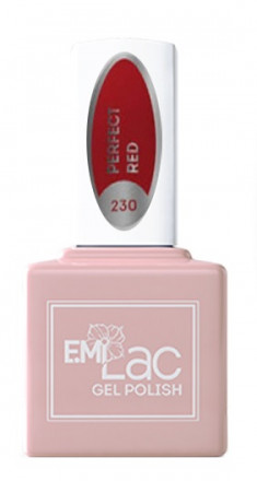 E.MI 230 RM гель-лак для ногтей, Идеальный красный / E.MiLac 6 мл