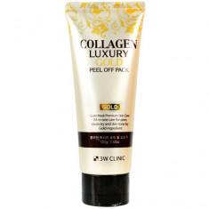 3W Clinic Collagen & Luxury Goldpeel off pack Маска-пленка для лица 100 г