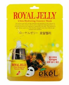 Тканевая маска для лица с экстрактом маточного молока EKEL Royal Jelly Ultra Hydrating Essence Mask 25г