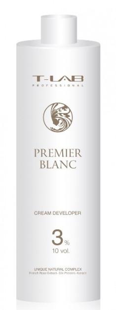 T-LAB PROFESSIONAL Крем-проявитель 3% 10 Vol / Premier Noir Cream developer 1000 мл