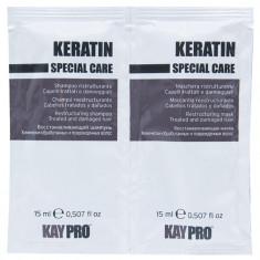 KAYPRO Набор для волос (шампунь 15 мл + маска восстанавливающая 15 мл) Keratin