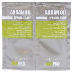 KAYPRO Набор для волос (шампунь 15 мл + маска питательная 15 мл) Argan Oil
