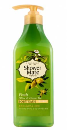 Гель для душа Оливки и зеленый чай KeraSys Shower mate fresh olive & green tea 550мл