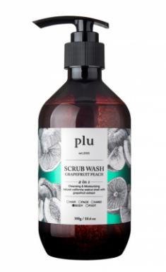Скраб-гель для душа персик и грейпфрут PLU Scrub wash grapefruit peach 300г